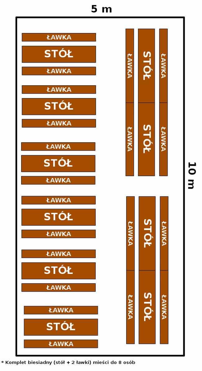 namiot 5x10 - opcja 1