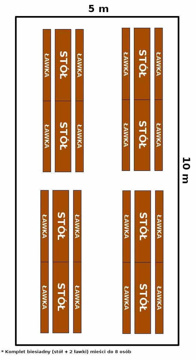namiot 5x10 - opcja 2