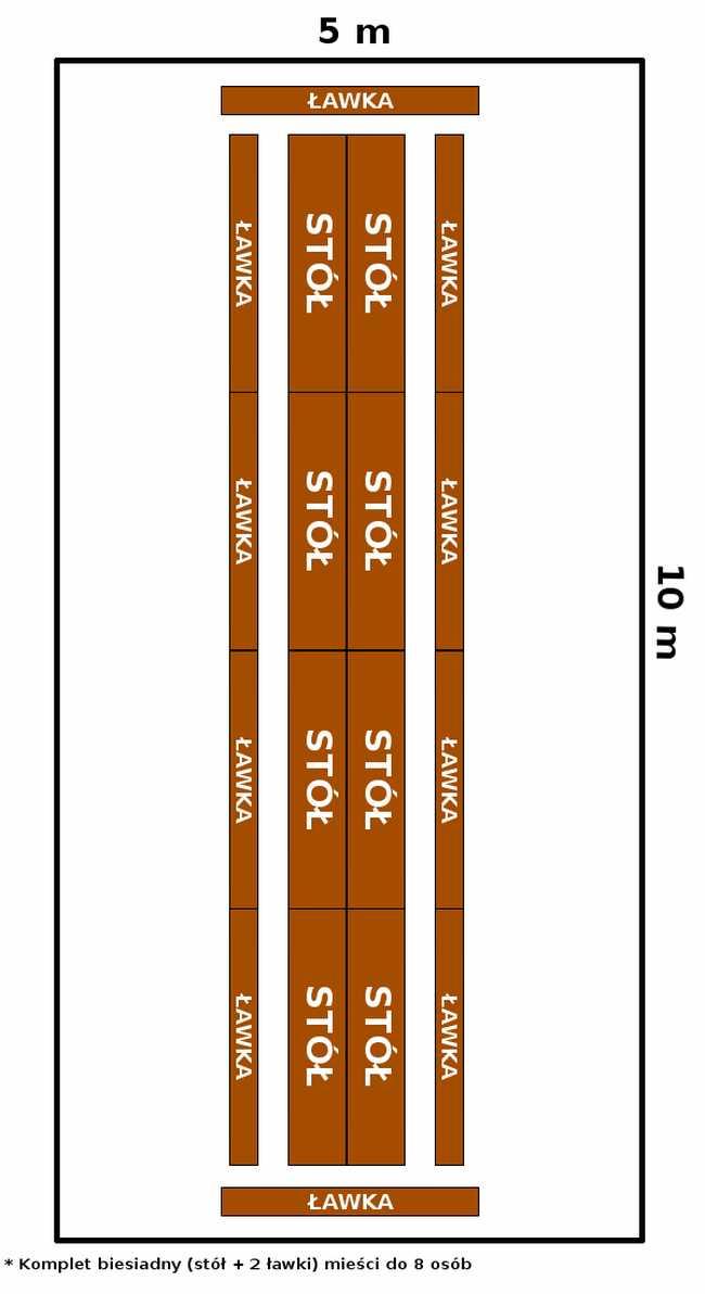namiot 5x10 - opcja 3