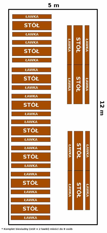 namiot 5x12 - opcja 1