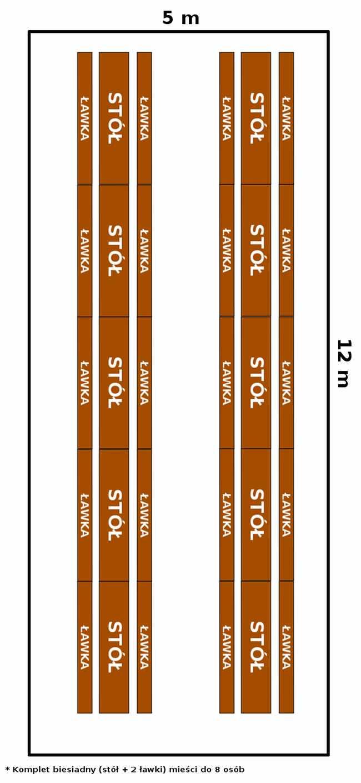 namiot 5x12 - opcja 2