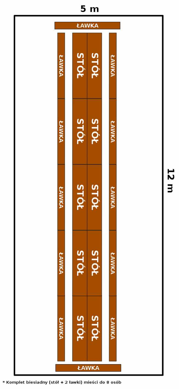 namiot 5x12 - opcja 3