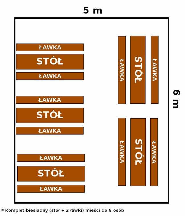 namiot 5x6 - opcja 1