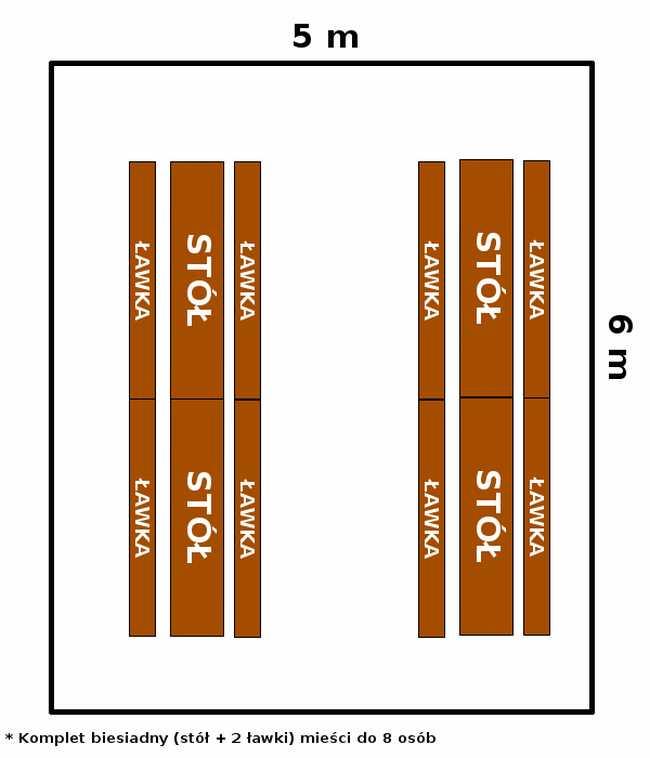 namiot 5x6 - opcja 2