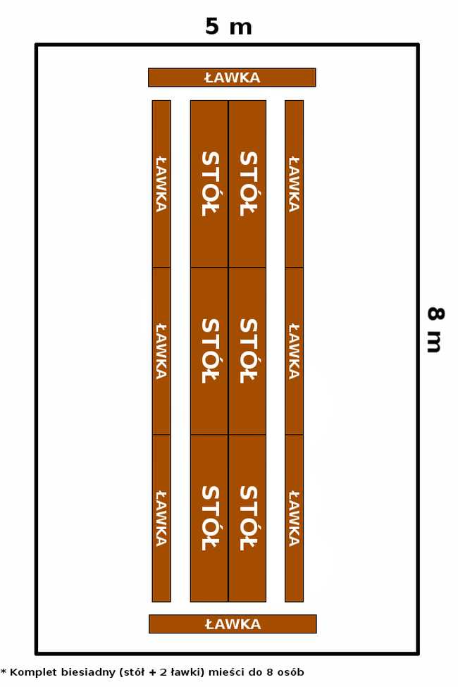 namiot 5x8 - opcja 3