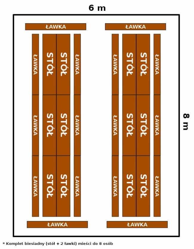 namiot 6x8 - opcja 2